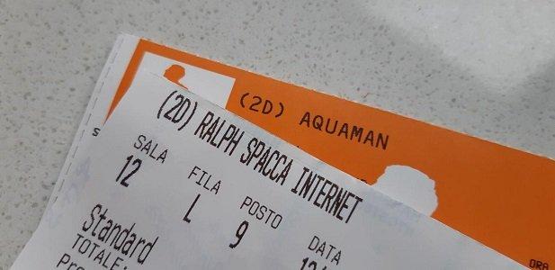 Aquaman e Ralph spacca Internet biglietti