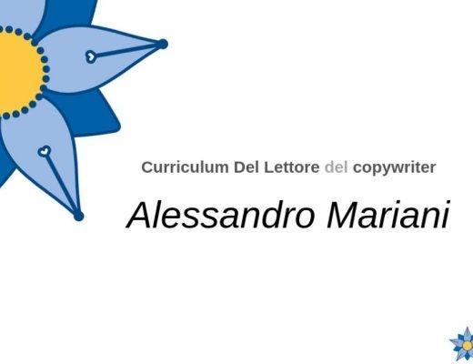 Curriculum Del Lettore di Alessandro Mariani: le letture e il pensiero di un copywriter