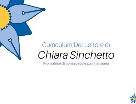Curriculum Del Lettore di Chiara Sinchetto: libri e letture precise, consapevoli e rassicuranti
