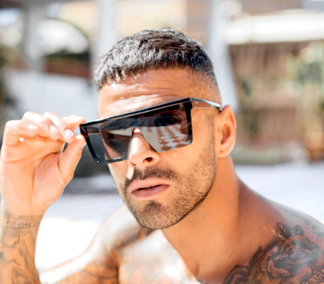 Jean unisex fekete kocka napszemüveg