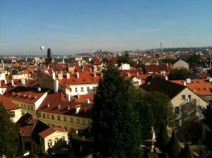 Malastrana rooftops from Vrtbovska garden, Prague