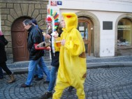 Masopast parade old town Prague