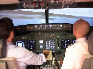 full scale flight simulator in Prague