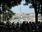 Ziskov tower from Letna Beer Garden