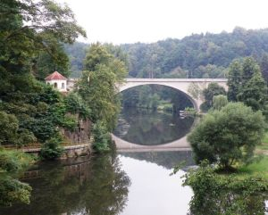 Loket Bridge and Ohre River