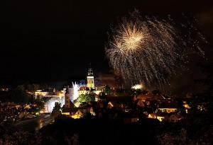 Night during Rose Festival, Cesky Krumlov