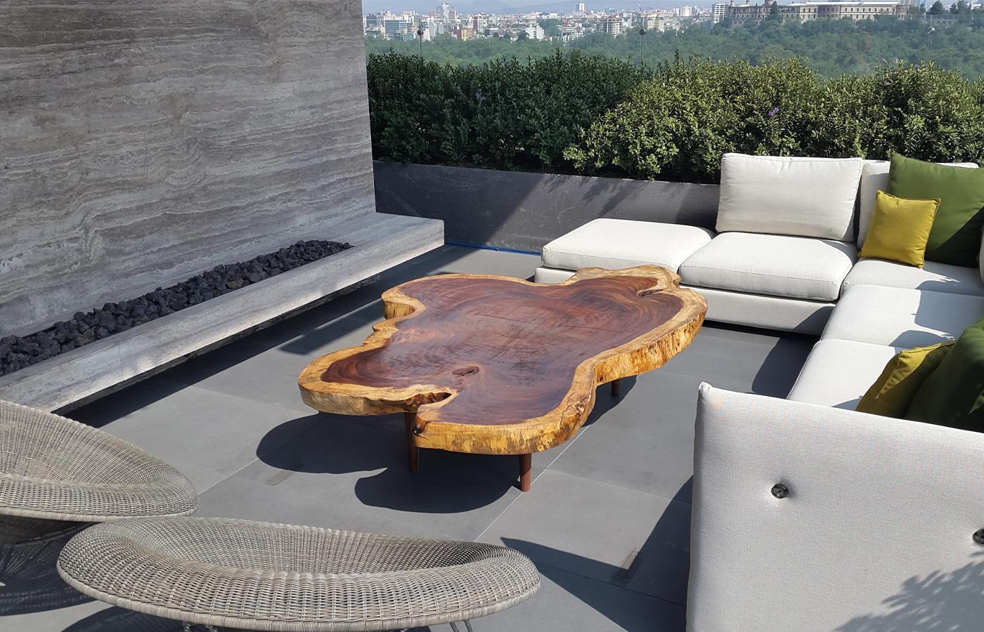 Parota Wood Outdoor Furniture
