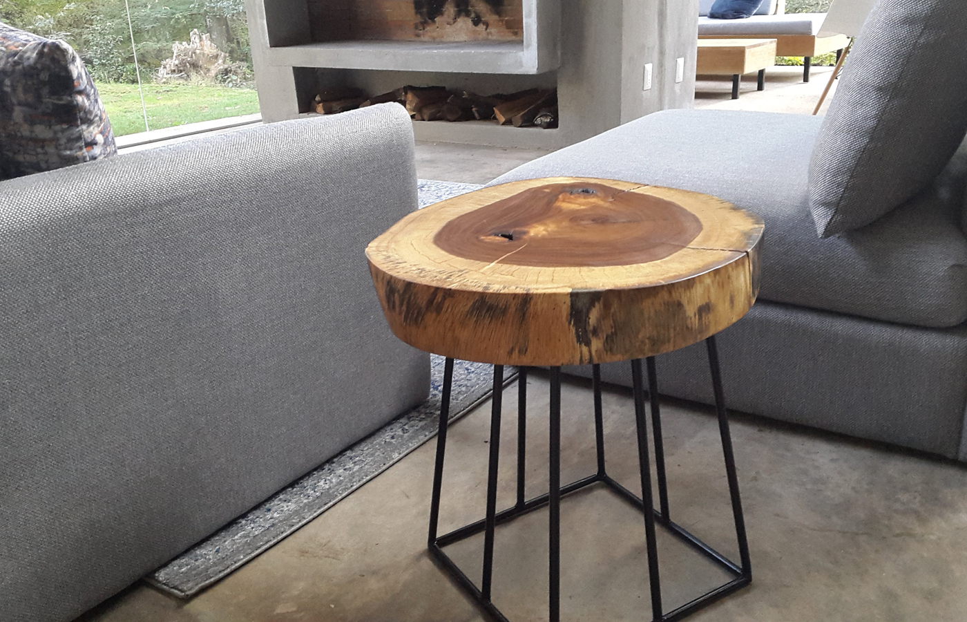 Parota Wood Console & Side Tables