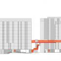 118 Subsidized dwellings, offices, retail spaces and garage / Amann Canovas Maruri Sección Elevación 2