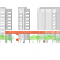 118 Subsidized dwellings, offices, retail spaces and garage / Amann Canovas Maruri Sección Elevación 3