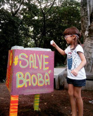 Ação com Amigos do Baobá. Maio de 2017.