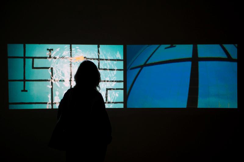 "A obra ""Piscina diptico"" (2013), de Lia Chaia"