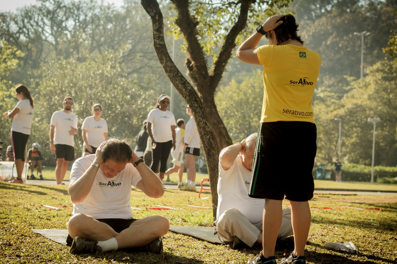 Treinamento da Ser Ativo no Parque Ibirapuera. Foto Ser Ativo