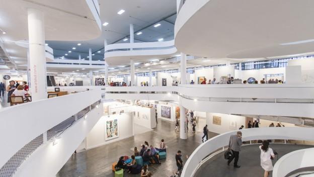 Pavilhão da Bienal do Parque Ibirapuera recepe a SP-Arte/2015. Foto: Divulgação/SP-Arte