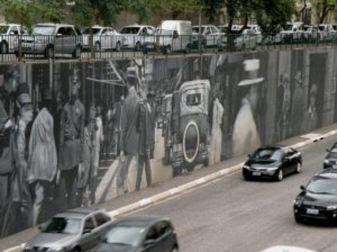 Eduardo Kobra, Muro da Memória 2009, Av. 23 de Maio, São Paulo. Foto: Roberto Carvalho de Magalhães, 2010.