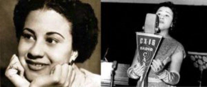 Dolores Duran em duas fotografias da década de 1950.