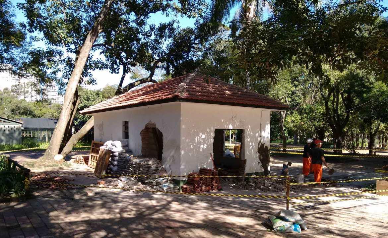 Restauração da Sede do Bosque da Leitura feita com inteiramente com doações de amigos do parque.