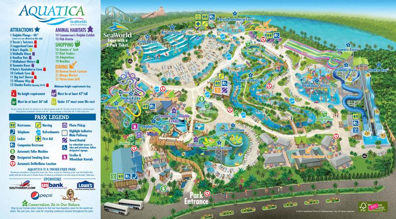 Mapa gratis Aquatica Orlando Florida