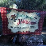 Signs along Big Thunder Trail direct guests to Jingle Jangle Jamboree.