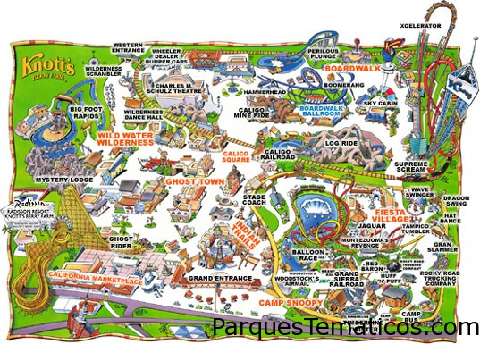 Mapa Knott's Berry Farm en California