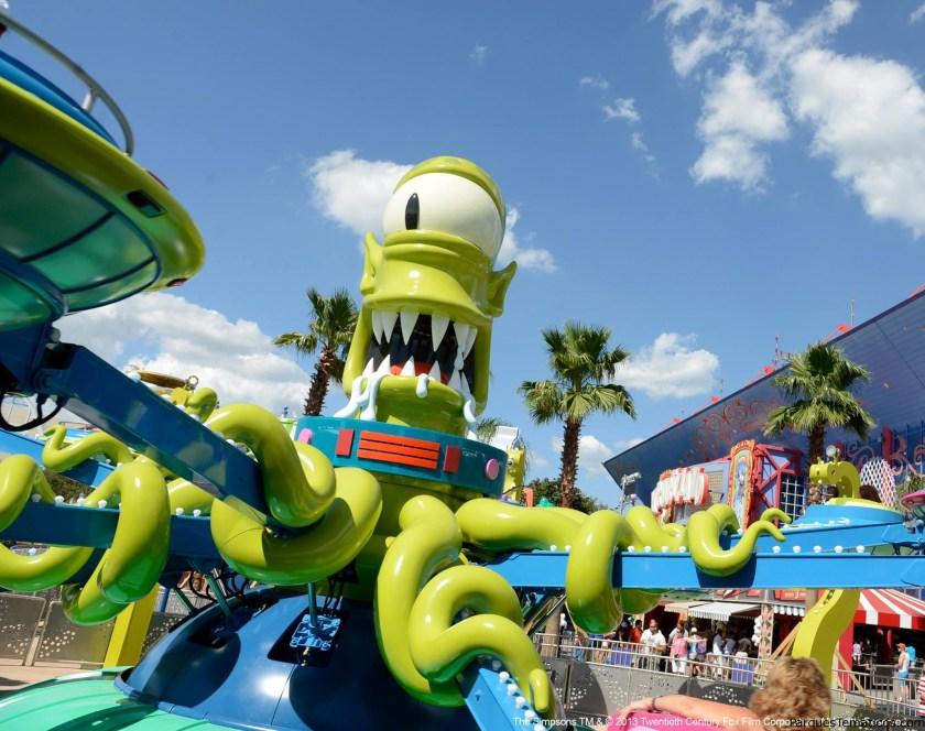 Los extraterrestres de Los Simpsons llegan a Universal Studios Orlando