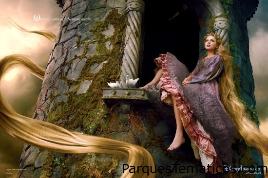 "Taylor Swift as Rapunzel from ""Tangled"":"