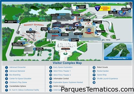 Mapa del parque temático NASA
