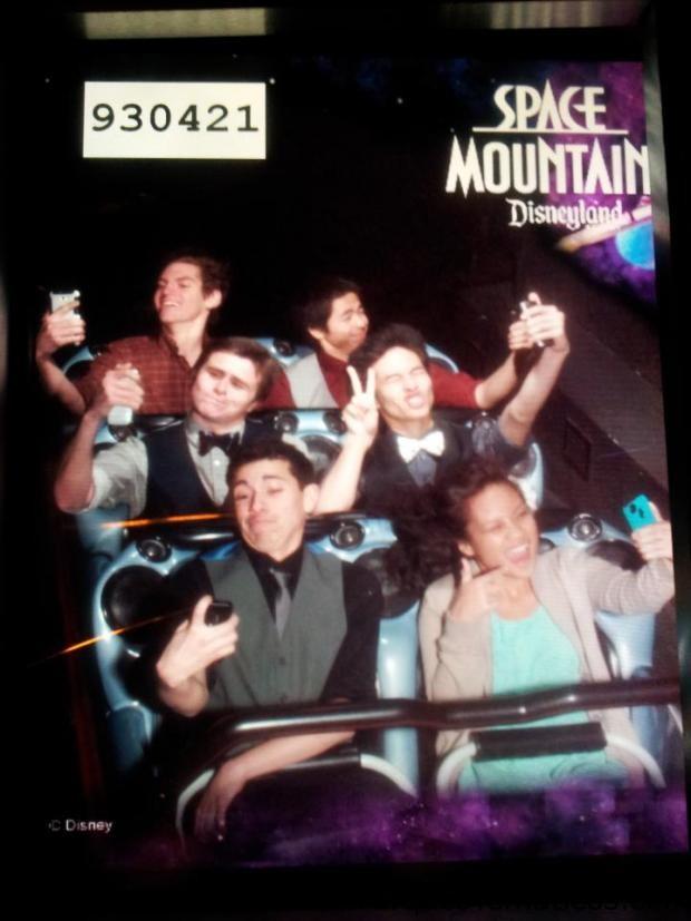 Space Mountain Selfie