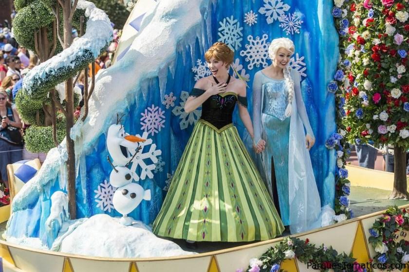 El desfile en Disney ahora incluye a Ana y Elsa de Frozen