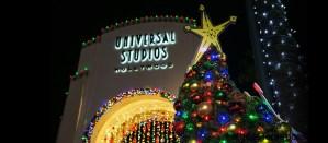Arbol de Navidad en Universal Studios LA