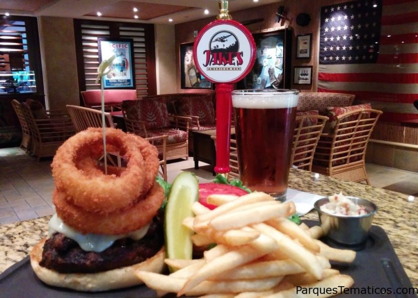 Loews Royal Pacific Resort – B-52 Bomber Burger paired with Jake's American Red Lager