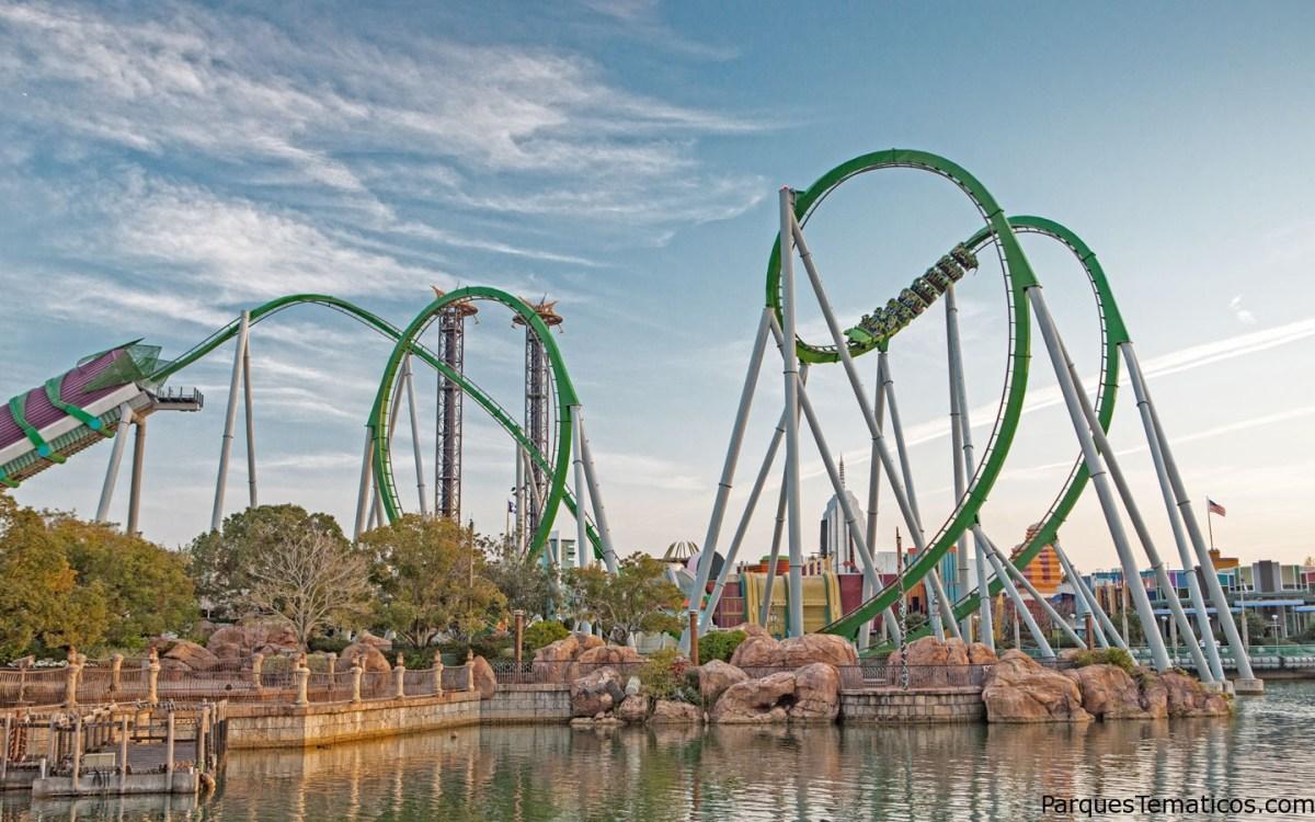 The Incredible Hulk Coaster renovada para 2016