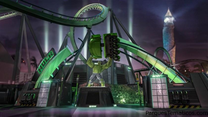 Incredible Hulk Roller Coaster at Islands of Adventure