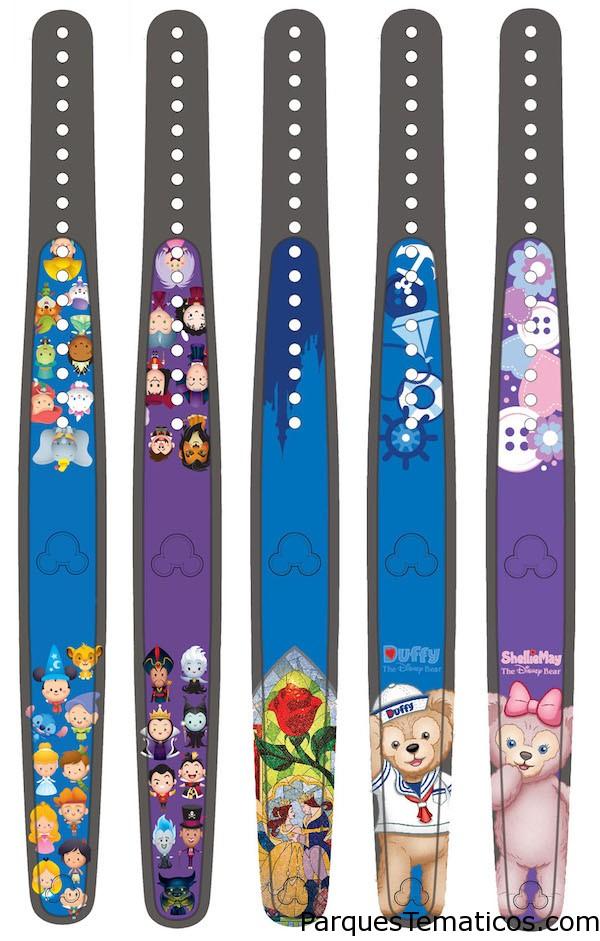 MagicBand con Duffy y otros personajes