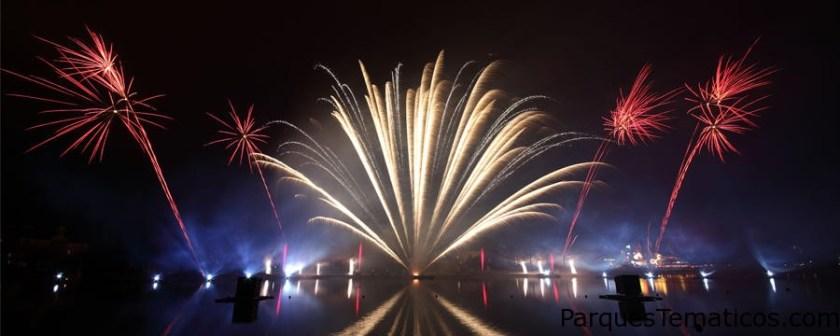 Disney's Magical fireworks and bonfire