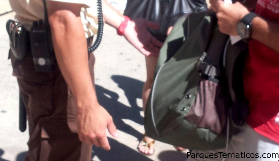 Qué tipo de artículos personales no son permitidos dentro de los Parques Temáticos?