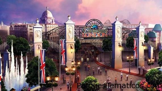 Lo que se proyecta como la entrada al Parque Temático Paramount London Resort