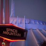 SPACE MOUNTAIN -- Rocket into the outer reaches of darkest space on this high-speed thrill ride that hurtles you into the final fun frontier as your space craft dips and careens at supersonic speeds.