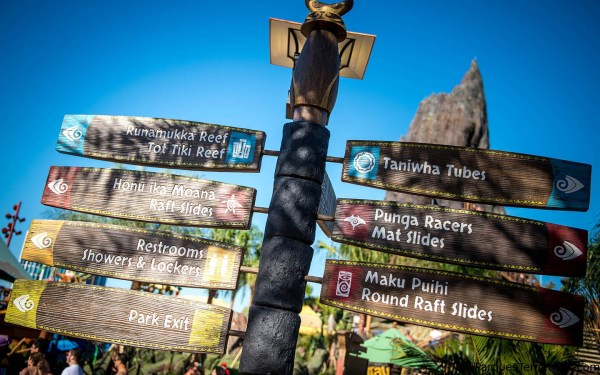 Universals Volcano Bay Sign