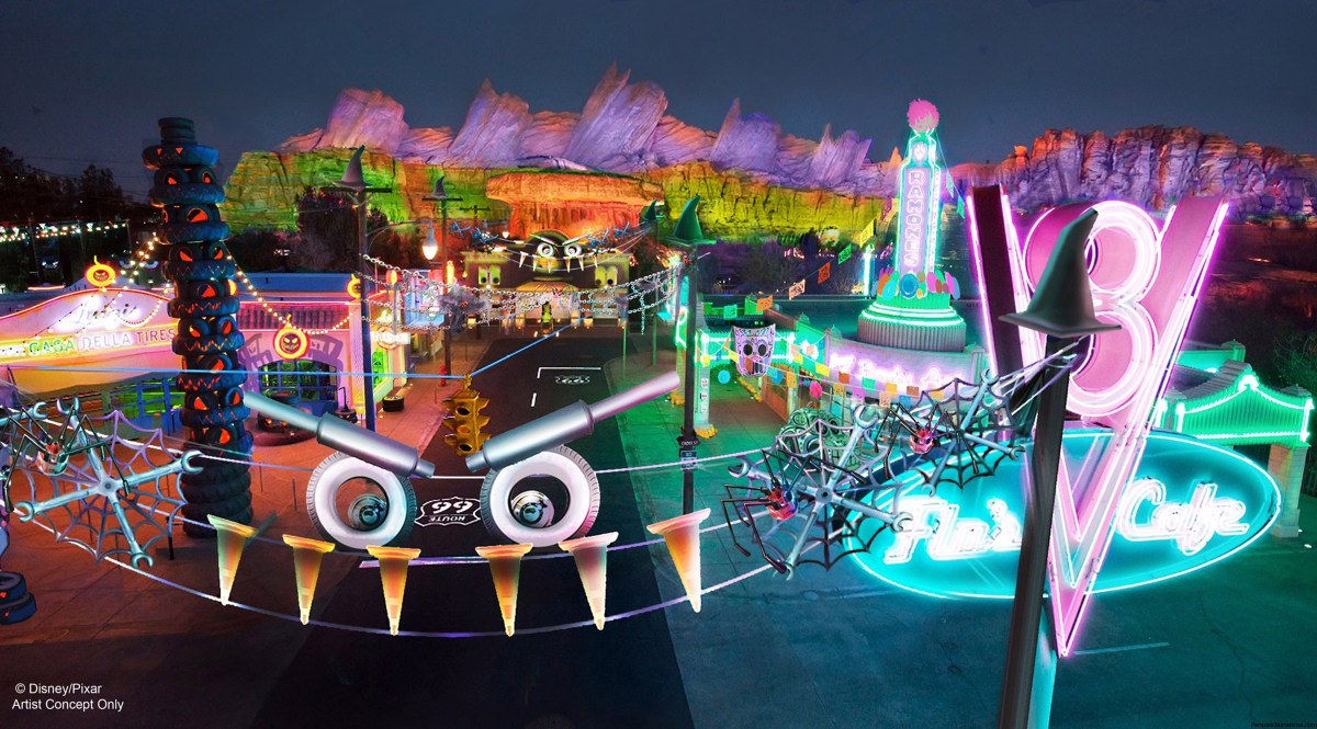 Datos divertidos, sobre Haul-O-Ween en Cars Land de California