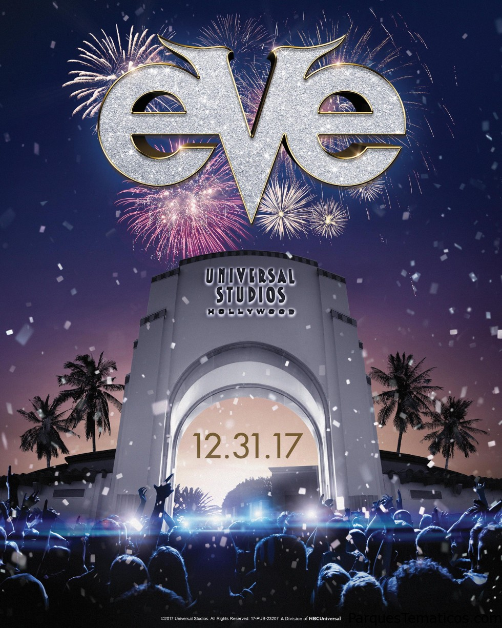 New Year's Eve at Universal Studios Hollywood.