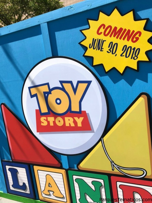 Toy Story Land cartel de Construcción y apertura el 30 de mayo 2018 en Disney´s Hollywood Studios