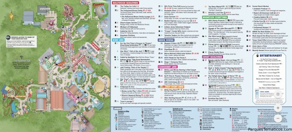 MAPA DE TOY STORY LAND, EN DISNEY´S HOLLYWOOD STUDIOS