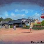 Cómo será el teleférico para viajar dentro de Walt Disney World Resort?