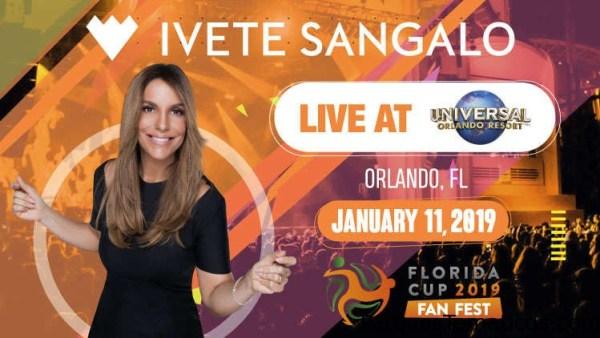 Ivete Sangalo se presentará en el Fan Fest de la Florida Cup en Universal Orlando