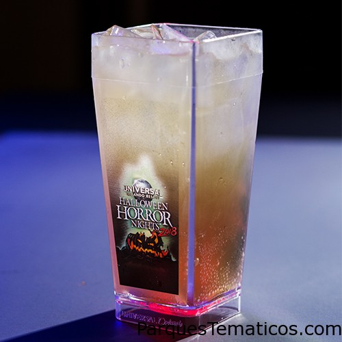 Totally L.I.T. Drink - Halloween Horror Nights 2018 Wicked Rad Punch Drink - Halloween Horror Nights 2018 Gnarly Twist Drink - Halloween Horror Nights 2018