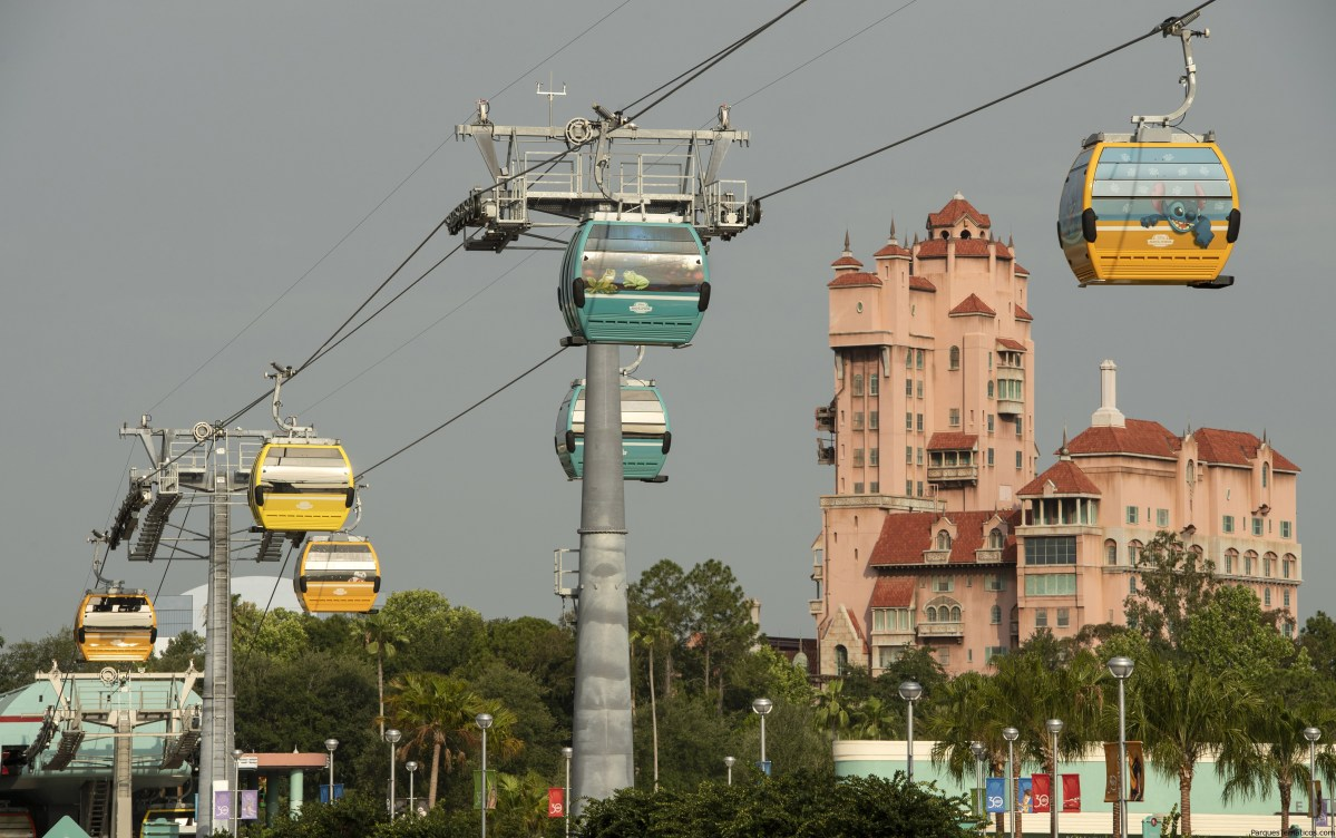 Walt Disney World Resort unveils 64 stunning Disney Skyliner gondolas, including several with graphics based on Disney films, attractions and characters, May 9, 2019, at Disney's Hollywood Studios in Lake Buena Vista, Fla. The reveal is a milestone for Disney Skyliner in preparation for it's opening this fall when guests will be whisked between Epcot, Disney's Hollywood Studios and four Disney resort hotels.