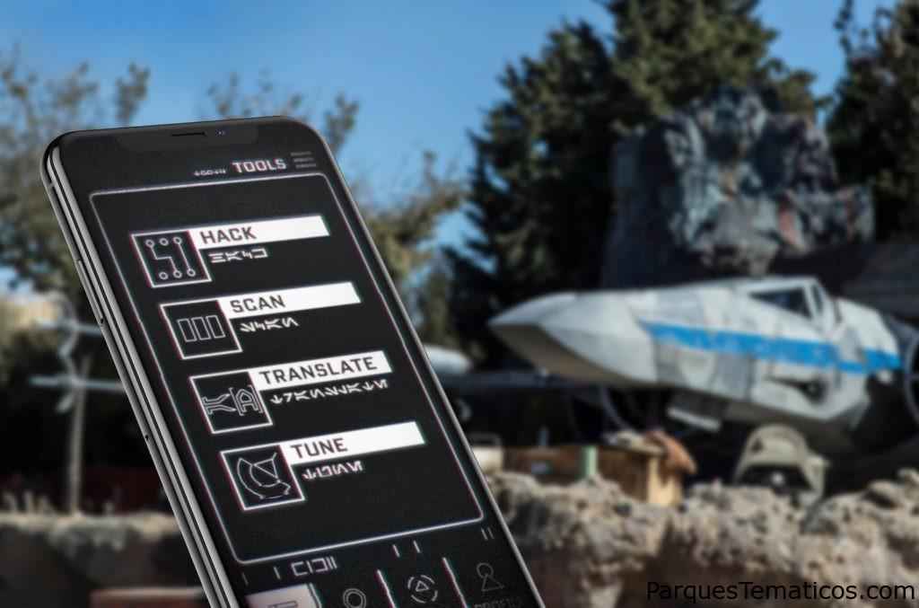 """La aplicación """"Galactic Datapad"""" en Star Wars Galaxy´s Edge"""