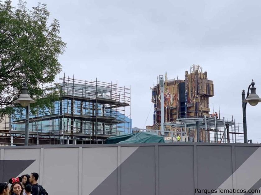 Construcción ahora de MARVEL Superhero Land en Disney California Adventure