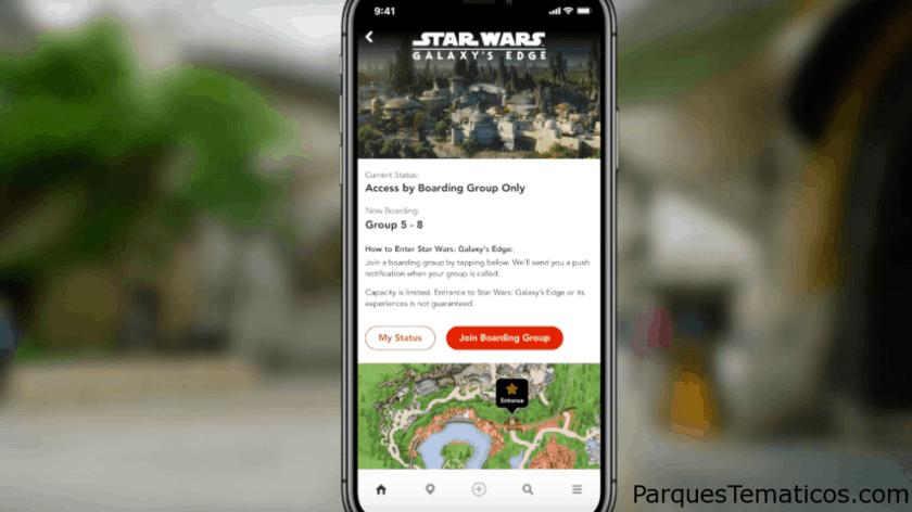 App de Disney para hacer las reservas del Virtual Line de Star Wars Galaxy Edge